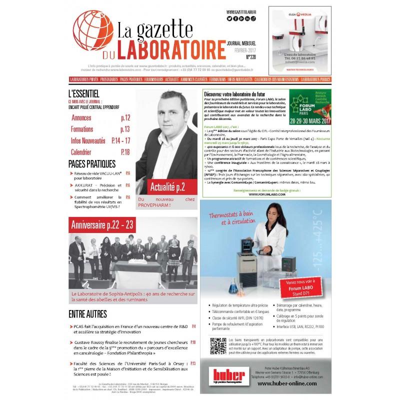 228 - Février 2017 - la gazette du laboratoire