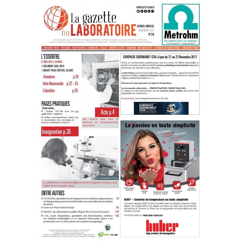 236 - Novembre 2017 - la gazette du laboratoire
