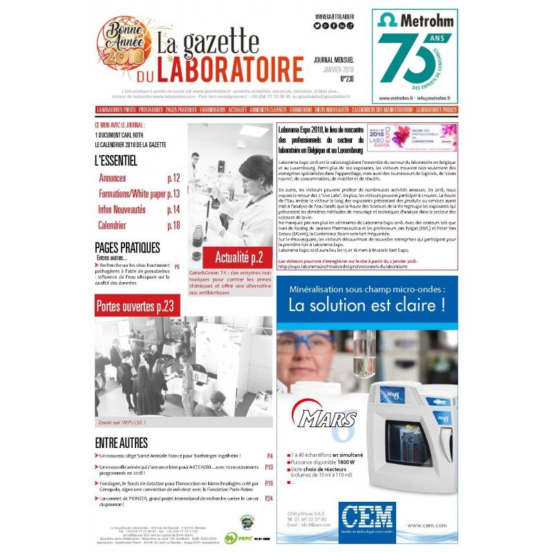 238 - Janvier 2018 - la gazette du laboratoire
