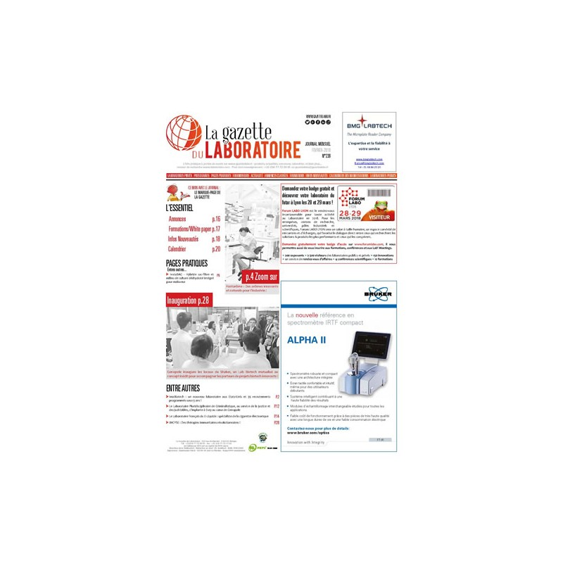 239 - Février 2018 - la gazette du laboratoire