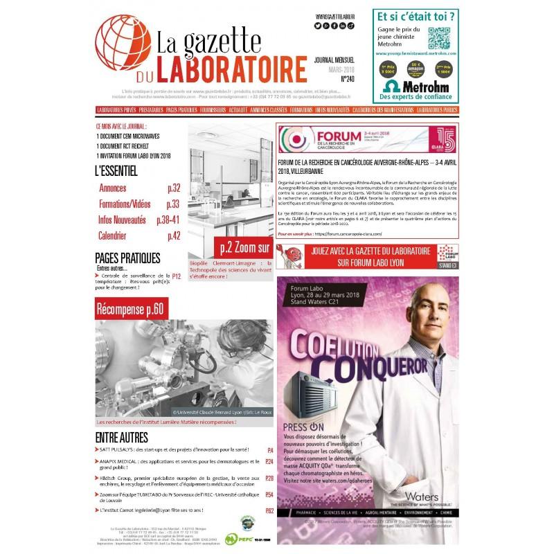 240 - Mars 2018 - la gazette du laboratoire
