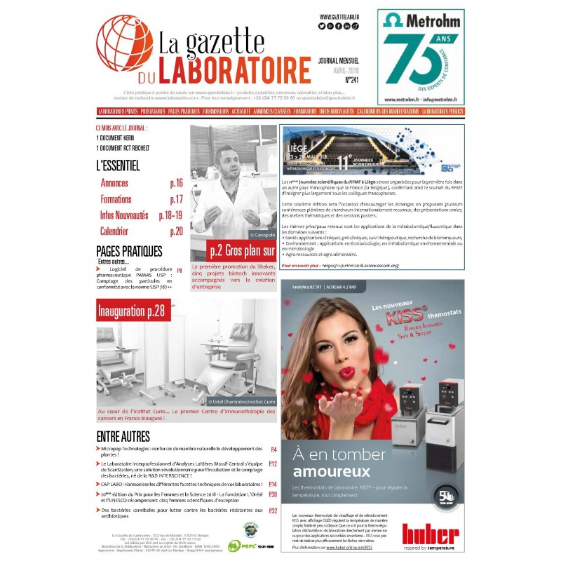 241 - Avril 2018 - la gazette du laboratoire