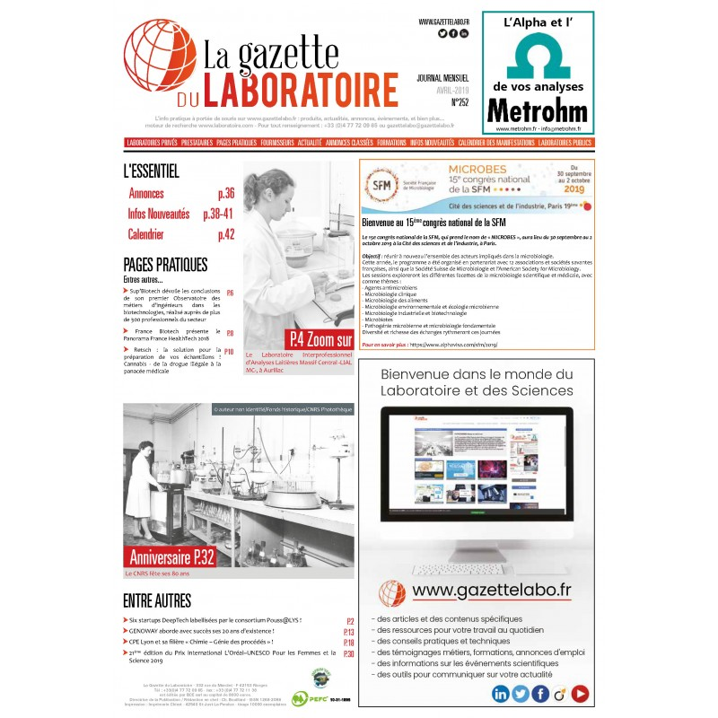 252 - Avril 2019 - la gazette du laboratoire