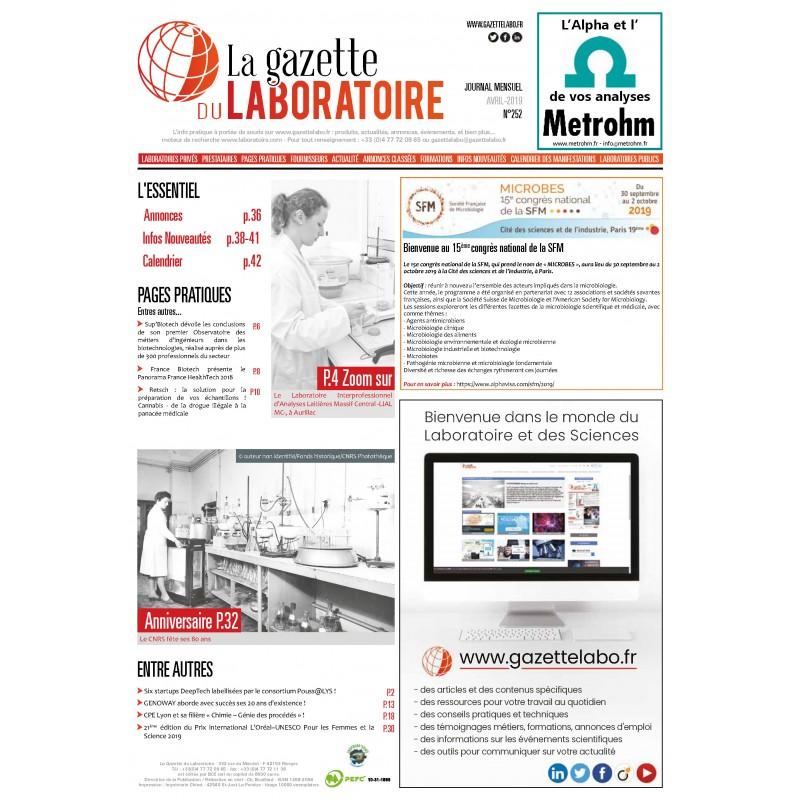 252 - Avril 2019 - la gazette du laboratoire