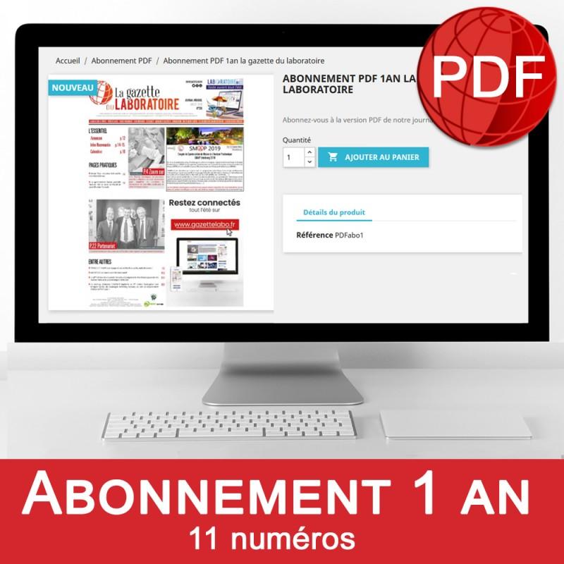 Abonnement PDF 1an la gazette du laboratoire