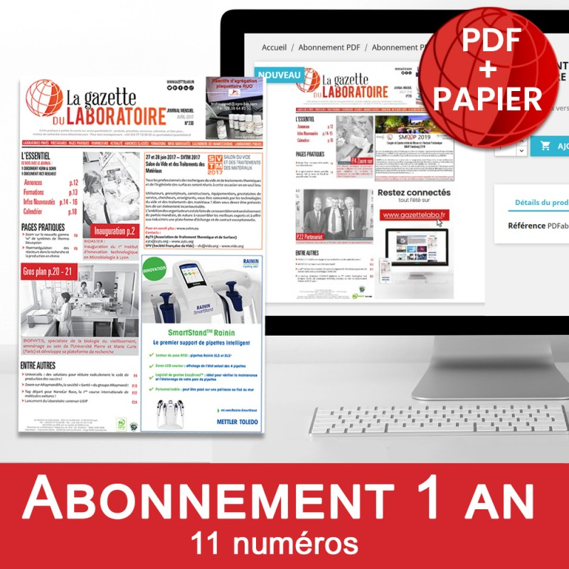 Abonnement PDF 1an la gazette du laboratoire